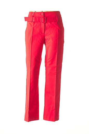 Pantalon chic rouge ASHLEY BROOKE pour femme