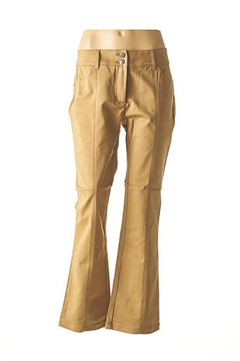 Pantalon casual marron ASHLEY BROOKE pour femme