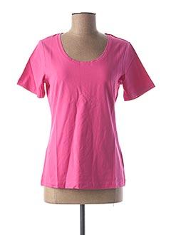 T-shirt manches courtes rose BEST CONNECTIONS pour femme