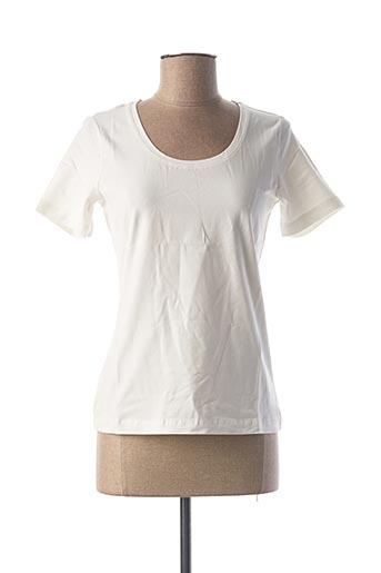 T-shirt manches courtes blanc BEST CONNECTIONS pour femme