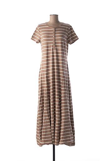 Robe longue marron BEST CONNECTIONS pour femme