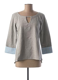 Sweat-shirt gris BEST CONNECTIONS pour femme