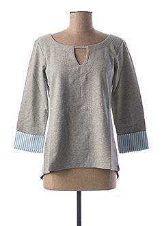Sweat-shirt gris BEST CONNECTIONS pour femme
