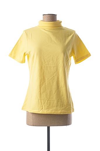 T-shirt manches courtes jaune BEST CONNECTIONS pour femme