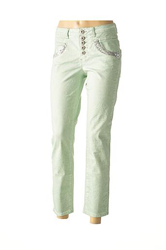 Pantalon casual vert HEINE pour femme