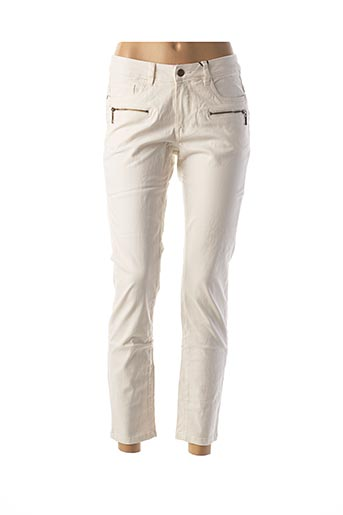 Pantalon 7/8 beige BEST CONNECTIONS pour femme