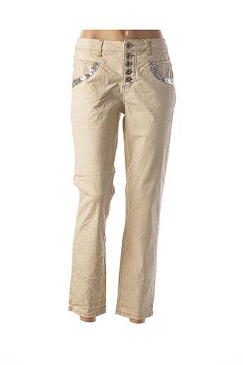Pantalon 7/8 beige HEINE pour femme
