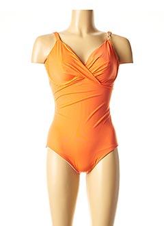 Maillot de bain 1 pièce orange SIMONE PERELE pour femme