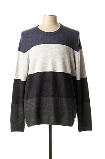 Pull col rond gris S.OLIVER pour homme