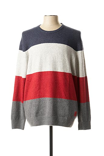 Pull col rond rouge S.OLIVER pour homme