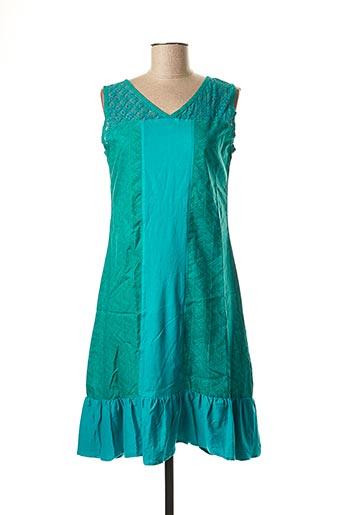 Robe mi-longue vert BAMBOO'S pour femme