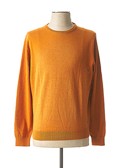 Pull col rond orange PIERRE CARDIN pour homme
