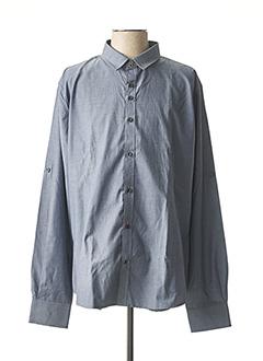 Chemise manches longues gris NUMEROLOGIE pour homme