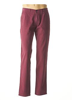 Pantalon casual rouge BRUNO SAINT HILAIRE pour homme