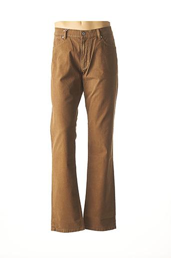 Pantalon casual marron BRUNO SAINT HILAIRE pour homme