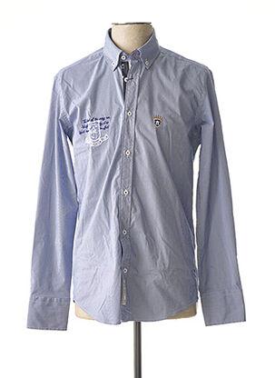 Chemise manches longues bleu ARISTOW pour homme