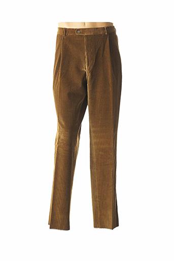 Pantalon chic marron BRUNO SAINT HILAIRE pour homme