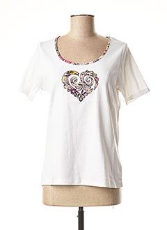 T-shirt manches courtes blanc TELMAIL pour femme
