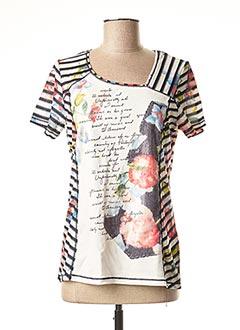 T-shirt manches courtes bleu FRONT DE MER pour femme