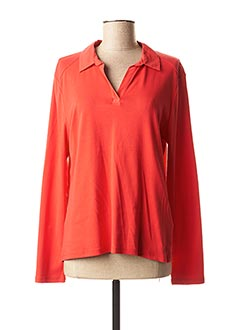 Polo manches longues rouge STREET ONE pour femme