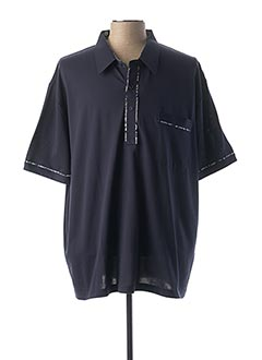 Polo manches courtes bleu GABICCI pour homme