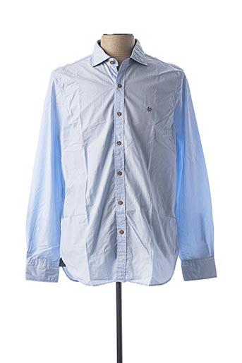 Chemise manches longues bleu FELLOWS pour homme