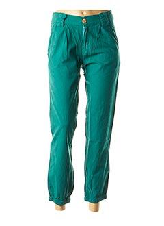 Pantalon 7/8 vert COLINE pour femme