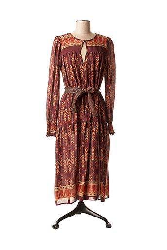 Robe mi-longue rouge DIXIE pour femme