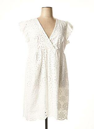 Robe mi-longue blanc DIXIE pour femme
