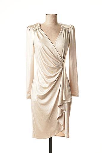 Robe mi-longue jaune EDAS pour femme