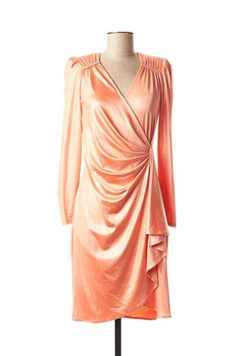 Robe mi-longue orange EDAS pour femme