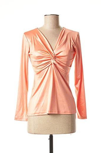 Top orange EDAS pour femme