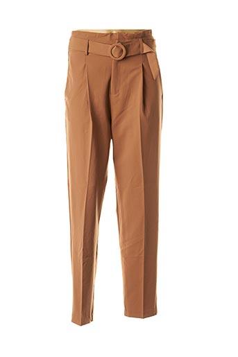 Pantalon chic marron GRACE & MILA pour femme