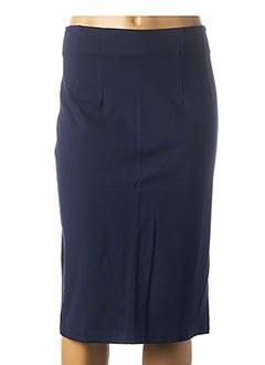 Jupe mi-longue bleu RINASCIMENTO pour femme