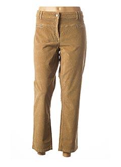 Pantalon casual beige MAE MAHE pour femme
