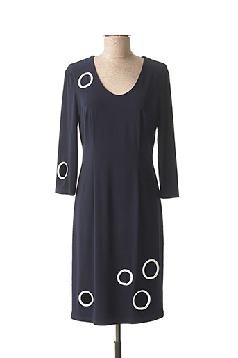 Robe mi-longue bleu JOSEPH RIBKOFF pour femme