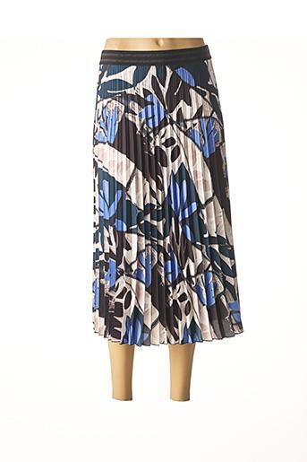 Jupe longue bleu FABER pour femme