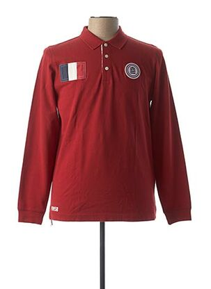 Polo manches longues rouge SERGE BLANCO pour homme