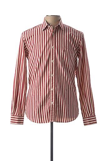 Chemise manches longues rouge SERGE BLANCO pour homme