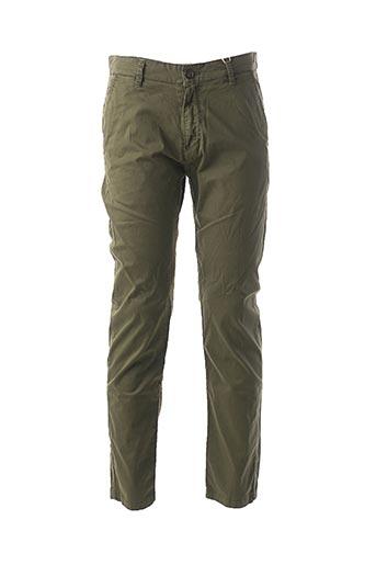 Pantalon casual vert GIORGIO MAN pour homme