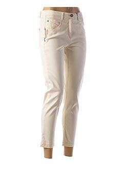 Pantalon 7/8 beige JOCAVI pour femme