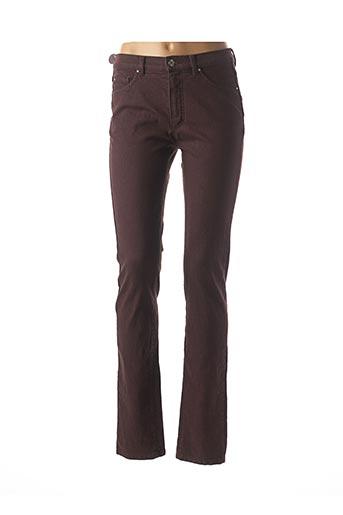 Pantalon casual violet BRUNO SAINT HILAIRE pour femme