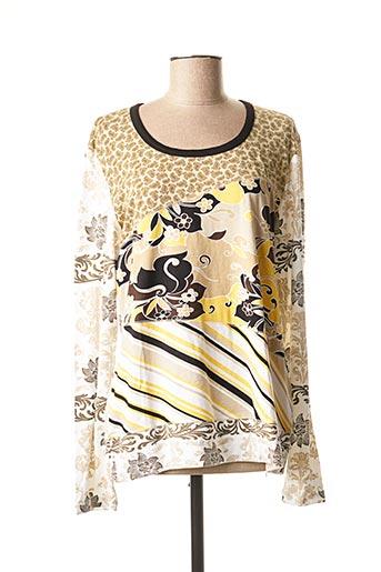 T-shirt manches longues beige MARINA RINALDI pour femme