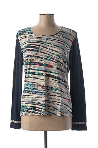 T-shirt manches longues bleu FIGURE LIBRE pour femme