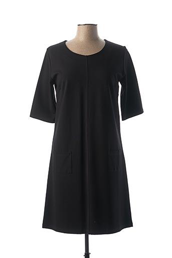 Robe mi-longue noir FLEUR DE SEL pour femme