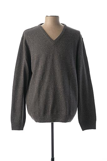 Pull col V gris BERAC pour homme