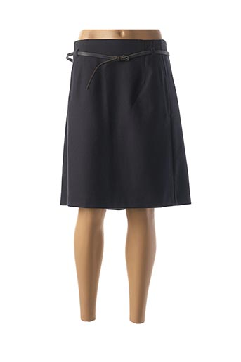 Jupe mi-longue bleu FLEUR DE SEL pour femme