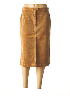 Jupe mi-longue marron CREEKS pour femme