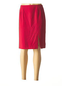 Jupe mi-longue rouge ANGEL NINA pour femme