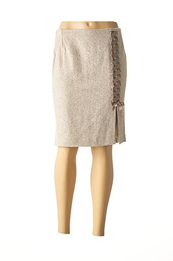 Jupe courte beige SERENA KAY pour femme